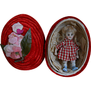 **Delightful  mignonette doll in an Easter egg****