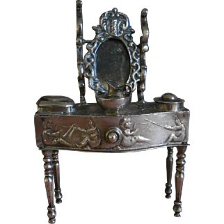 **A Dutch silver, rare miniature dressing table approx 1901***