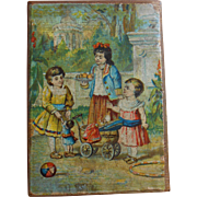 **An antique Money Box**with lovely image..approx 1890