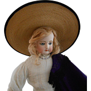 **An amazing Straw hat for your large Fashion Lady doll***approx 1880