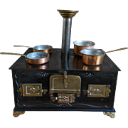 **A Gebr. BING German Stove****Incl. copper pots, approx 1900.