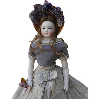 **An amazing Fashion Lady doll of Claude Blampoix with bisque arms*****