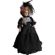 **A rare elegant WAX lady doll** approx 1900,....... 13,6 inches.