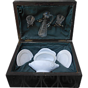 *Rare Presentation box,  French dinner set with carafe and drinking glasses**approx 1890
