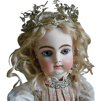 **A Antique silvered metal TIARA***for your French doll.