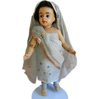 **Mignonette, Extremely rare mulatto Indian girl  6,8 inches, original clothes***