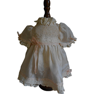 **Lovely real silk dress with pink ribbons and bow***