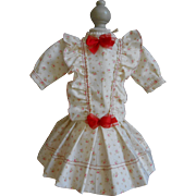 **Sweet cotton dress with lovely roses including petticoat****