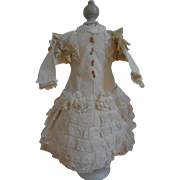 ******Amazing dress with lots of French antique lace********