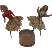 **Two lovely mignonette dolls attributed to Bru**approx 1890**