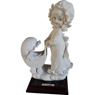 A Lovely. cute, sculpture of G.Armani Italy 1984, 8,8 inches high.