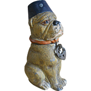 **Extremely, French rare Bulldog money box***approx 1890-1900