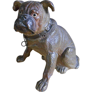 **The other Bulldog money box..made in France..***approx 1890-1900