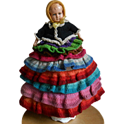 **A doll as a tea cozy*** approx 1910-1920.