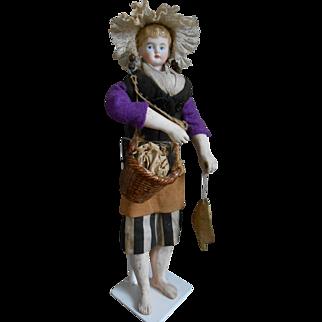 Beautiful Parian dressed like a French Breton Fisherman's wife.