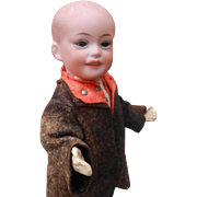 Cute French cabinet size boy doll, 8,4 inches...SFBJ 227....rare size !