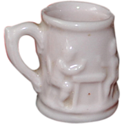 Doll House Beer Mug 1900 with two cute scenes