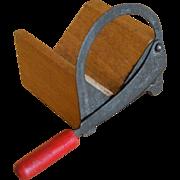 Rare antique doll house bread slicer / sugar slicer