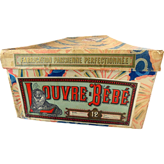 Original antique LOUVRE-BEBE doll box for your FRENCH DOLL