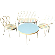 Vintage Garden chairs, bench and table 1930