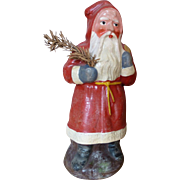 Great vintage Belsnickle Santa Claus with blue gloves
