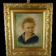 Oil Painting sweet little child - around 1890