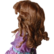 Adorable red human hair antique wig
