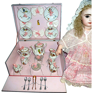 Gorgeous French doll coffee set in a presentation box
