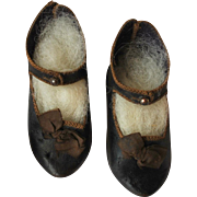Early marked Jumeau doll shoes