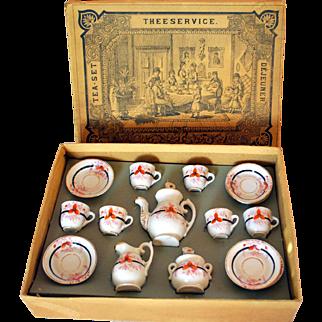 Pretty French Doll-Tea-Service Antique In Original Box