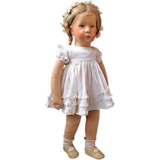 Very pretty Kathe Kruse doll Ilsebill - fabric head