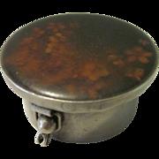 1940's Alpaca Silver Pill Box