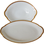 Union Ceramique Oval Serving Bowl and Tray-Limoges