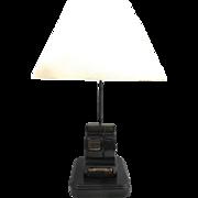"Vintage Mini Cash Register Lamp- 24""Tall"