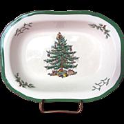 """Spode Christmas Tree Oval Vegetable Dish- 9.25"""""""