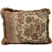 Vintage Jacquard  Tapestry Pillow- 20x16""