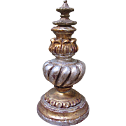 "Italian Gold and Silver Large Decorative Finial-9.25""Tall"