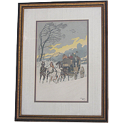 """""The Gale""-Harry Eliott Signed Lithograph"