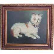 Original Oil Wire Haired Terrier Portrait- Signed