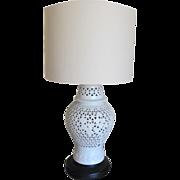 Blanc de Chine Cherry Blossom Lamp