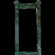 Refurbished Vintage Green Faux Marble Mirror