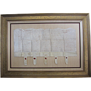 Indentured Servant Contract on Parchment