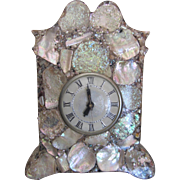 Mother of Pearl Mantel Clock