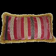"""22x13"""" Vintage Scalamandré Stripe Velvet Pillow"""
