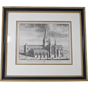 Cathedral Engraving by Johannes Kip