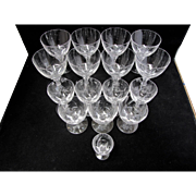 Faceted Crystal Cordial Glasses - Set of 16