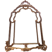 Vintage Italian Rococo Wood Carved Mirror