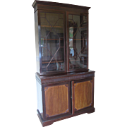 Antique Glass Paneled Wooden Cabinet- John Barker & Co.