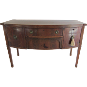 Antique Mahogany Credenza with Inlay