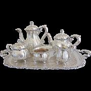 Vintage 6pc Wilcox Du Barry Silver Coffee & Tea Service